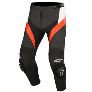 Alpinestars Missile Leather Pants Black/White/Fluo-Red
