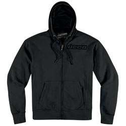 Icon Upper Slant Hoodies Black (Closeout)