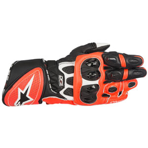 Alpinestars GP Plus R Leather Gloves White/Black/Fluo-Red
