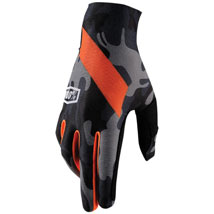 100% Celium Gloves Camo/Black/Red (Closeout)