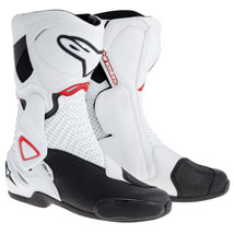 Alpinestars Men's SMX-6 Boots White/Black/Red-Vented (Closeout)