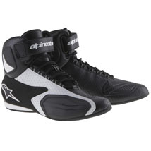 Alpinestars Men's Faster Vented Shoes Black/White (Closeout)