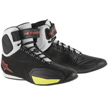 Alpinestars Men's Faster Vented Shoes Black/White/Red/Yellow-Fluo (Closeout)