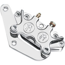 Performance Machine Classic Front Caliper Kit (Polished, Dual Disc) for FXD 84-99