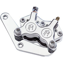 """Performance Machine Classic Front Caliper Kit (Polished, Single Disc) Equipped w/ Stock or Custom Wire Spoke Wheel w/ 11.5"""" Rotor for FXR 84-99"""