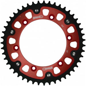 Supersprox Stealth Red 520 Rear Sprocket for TE 449 11-12