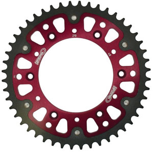 Supersprox Stealth Red 520 Rear Sprocket for GSX-R1000 01-06