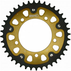 Supersprox Stealth Gold 525 Rear Sprocket for Dorsoduro 750/ABS/SMV 07-17