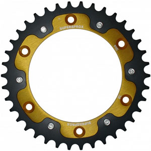 Supersprox Stealth Gold 520 Rear Sprocket for 250 EXC/Six Days 12-16