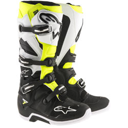 Alpinestars Men's Tech 7 Boots Black/White/Yellow