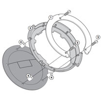 Givi BF01 Easy Lock Tank Ring for GSX-R600 08-10
