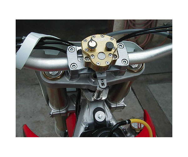 Bolt on kit installed with stock triple clamps and oversized handlebars. Does not include handlebars. Picture is only a representation. Actual bike not shown.