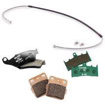 Galfer Stainless Steel Brake Line and Brake Pad Kit (Front) for KX85 01-10