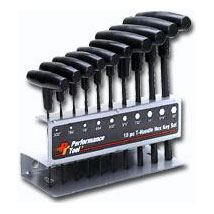 Performance Tool T-Handle Metrix Hex Key Set