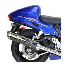 Two Brothers M2 Dual Flange-On Exhaust for Hayabusa 99-07
