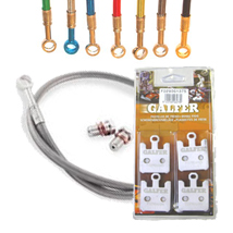 Galfer SS Front Brake Lines and HH Brake Pads Kit for SV650 03-04